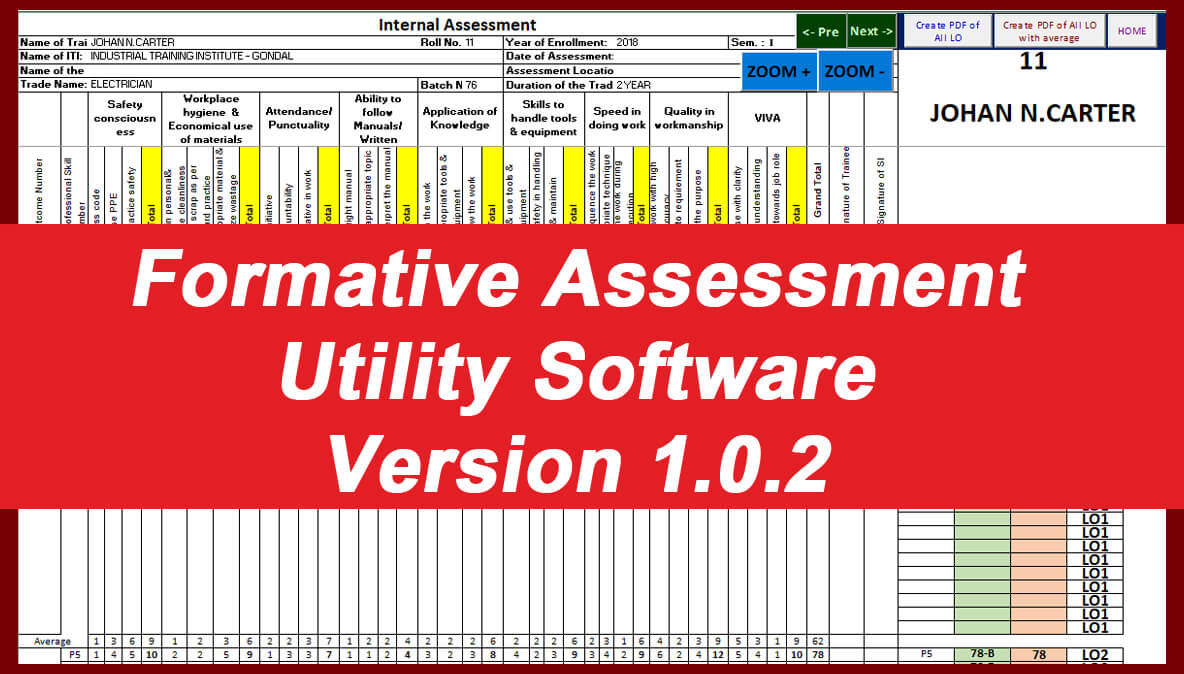 Formative Assessment Utility Software Version 1.0.2